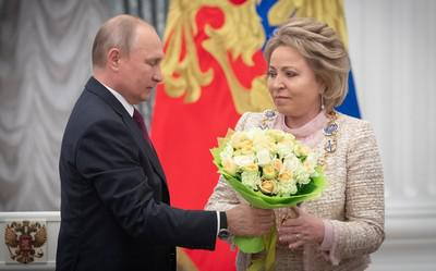 Владимир Путин и Валентина Матвиенко