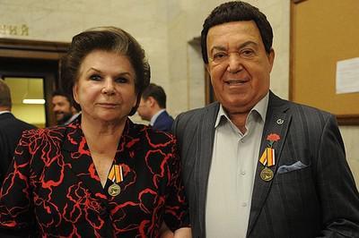 Валентина Терешкова и Иосиф Кобзон