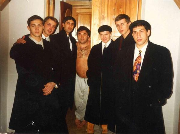 Слева направо: В. Савокин, Г. Войтенко, А. Быков, В. Телятников (бизнесмен), В. Марьясов, В. Алексеев, С. Исмайлов