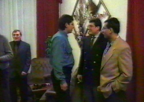 Слева направо: Александр Данилов, Сергей Блинов, Алексей Гузанов (Кокос) и А. Гапяк (1995 г.)
