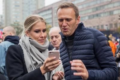 Любовь Соболь и Алексей Навальный