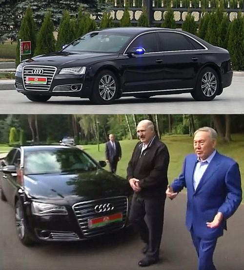 Справа налево: Нурсултан Назарбаев и Александр Лукашенко