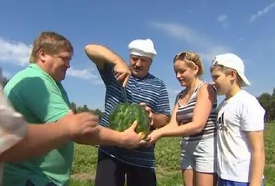 Справа налево: Николай Лукашенко, Светлана Коношенко и Александр Лукашенко (2014 г.)