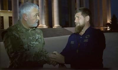 Владимир Уйба (слева) и Рамзан Кадыров