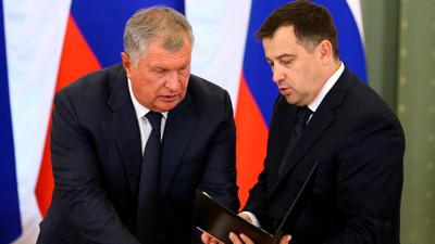 Игорь Сечин (слева) и Кирилл Молодцов
