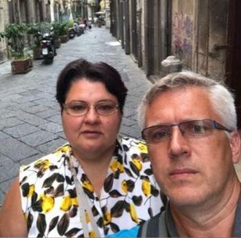 Анна Аверина с мужем
