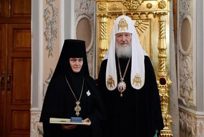 Игуменья Феофания и патриарх Кирилл