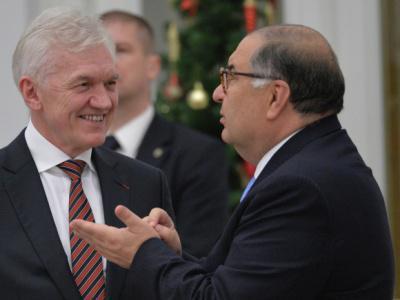 Геннадий Тимченко (слева) и Алишер Усманов
