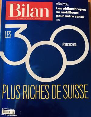 Российские миллиардеры в топ-300 богачей Швейцарии.