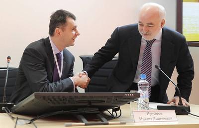 Михаил Прохоров (слева) и Виктор Вексельберг