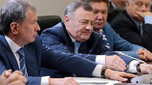 Слева направо: Игорь Сечин, Аркадий Ротенберг, Алексей Миллер и Владимир Якунин