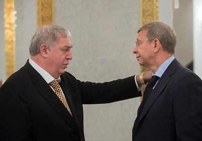 Михаил Гуцериев (слева) и Владимир Евтушенков