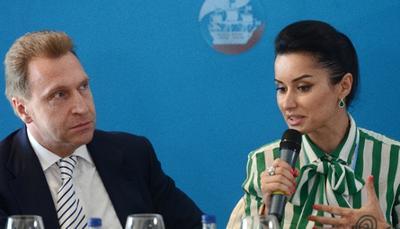 Игорь Шувалов и Тина Канделаки