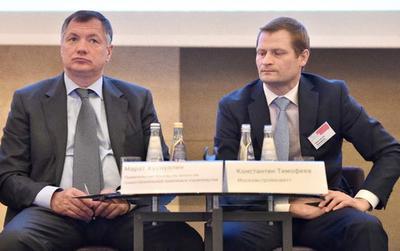 Марат Хуснуллин и Константин Тимофеев (справа)