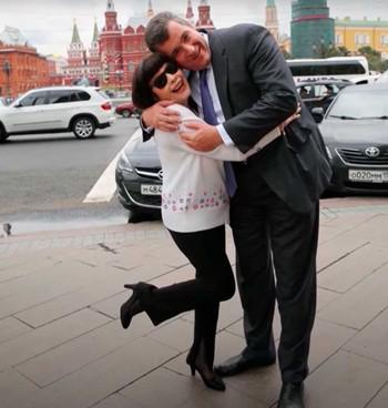 Мирей Матье и Леонид Слуцкий