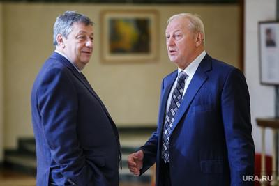 Аркадий Чернецкий (слева) и Эдуард Россель