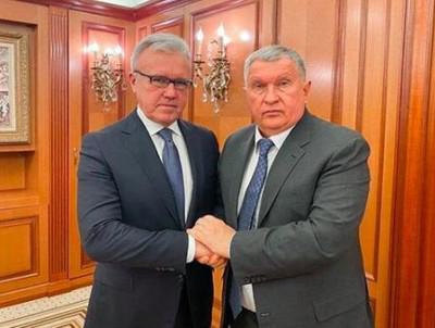 Александр Усс (слева) и Игорь Сечин