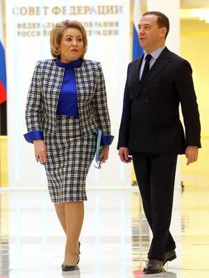 Валентина Матвиенко и Дмитрий Медведев