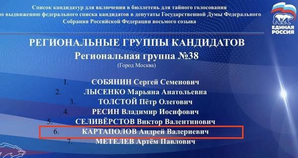 Дочерняя доля Андрея Картаполова.