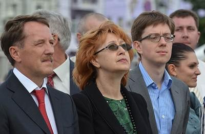 Слева направо: Алексей Гордеев, Татьяна Гордеева, Никита Гордеев
